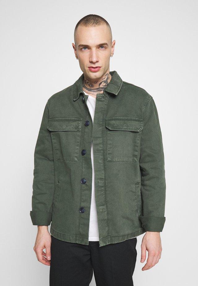 UTLITY - Denim jacket - dark khaki