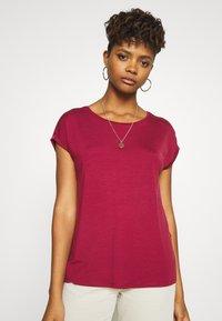 Vero Moda - VMAVA PLAIN - T-shirt basic - tibetan red - 0