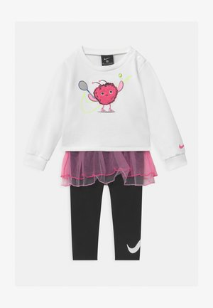 LIL MONSTERS SET - Mikina - white/black/pink