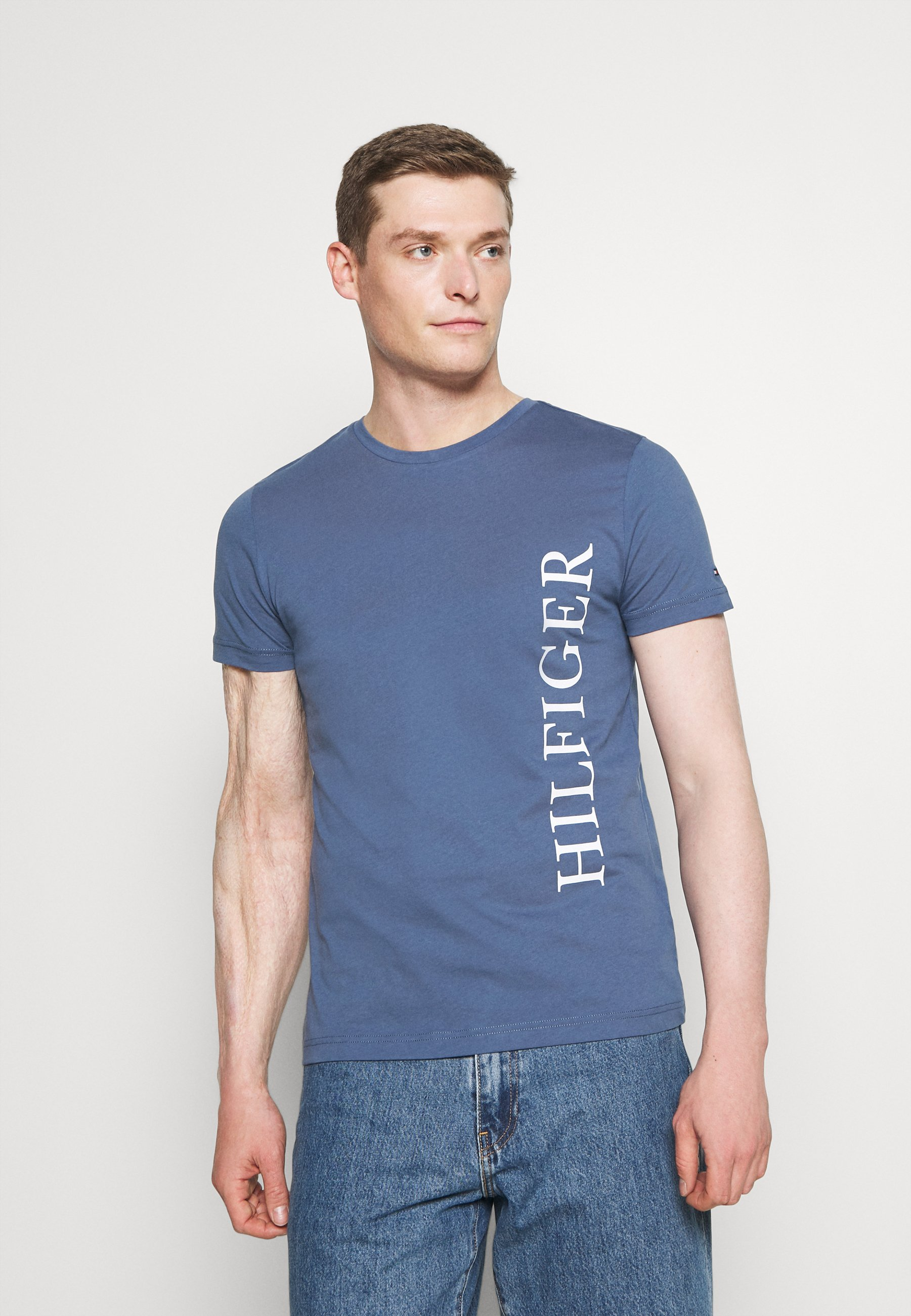 Men LARGE LOGO TEE - Print T-shirt