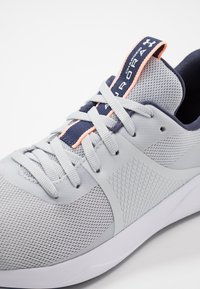 Under Armour - CHARGED AURORA - Sports shoes - halo gray/white/peach frost - 5