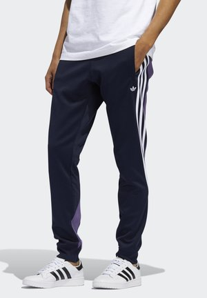 STRIPES WRAP TRACKSUIT BOTTOMS - Tracksuit bottoms - blue