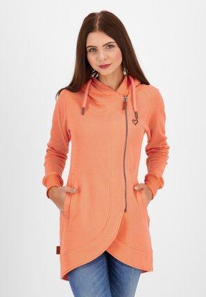 Zip-up hoodie - peach