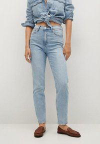 Mango - Jeans Tapered Fit - bleu clair - 0