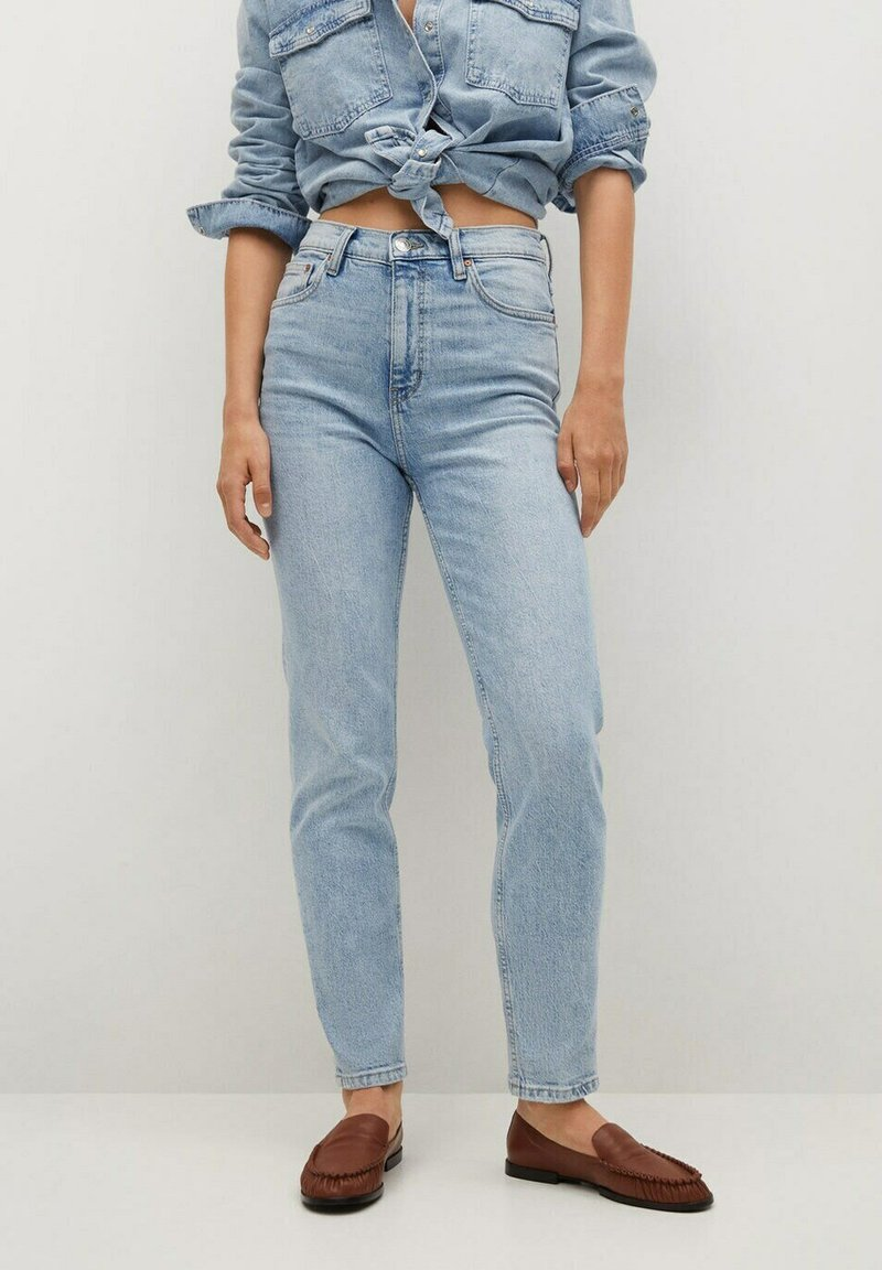 Mango - Jeans Tapered Fit - bleu clair