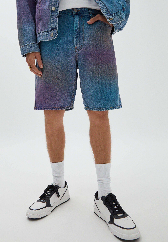 Homme MIT SPRAYPRINT - Short en jean