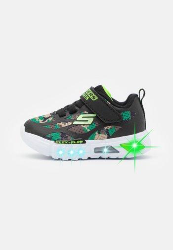 FLEX GLOW - Sneaker low - black/lime