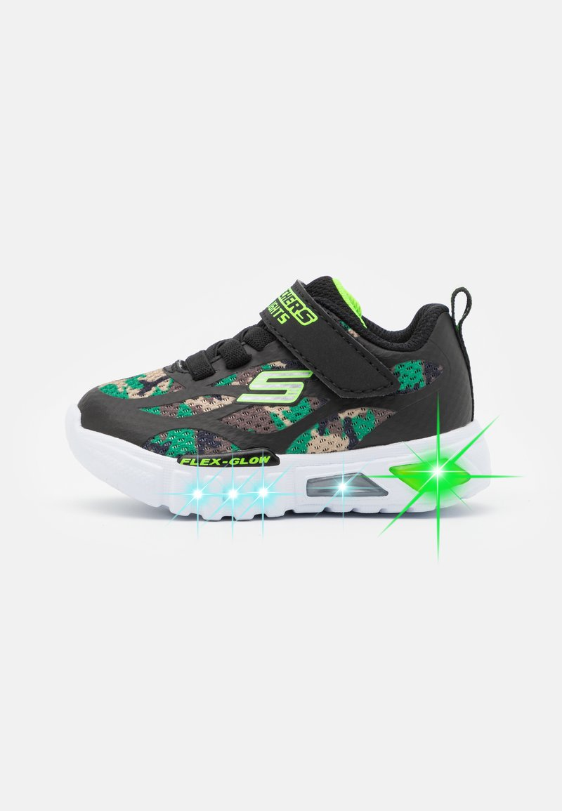 Skechers - FLEX GLOW - Trainers - black/lime