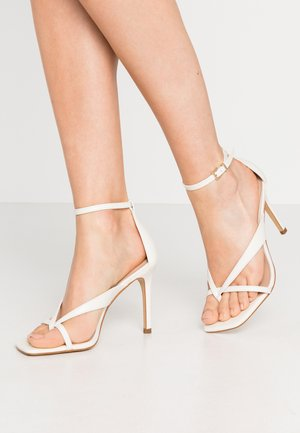 LEXIE - High heeled sandals - white