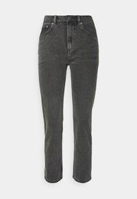CROPPED RIGID VINTAGE - Straight leg jeans - washed black