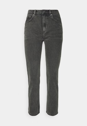 CROPPED RIGID VINTAGE - Straight leg jeans - washed black