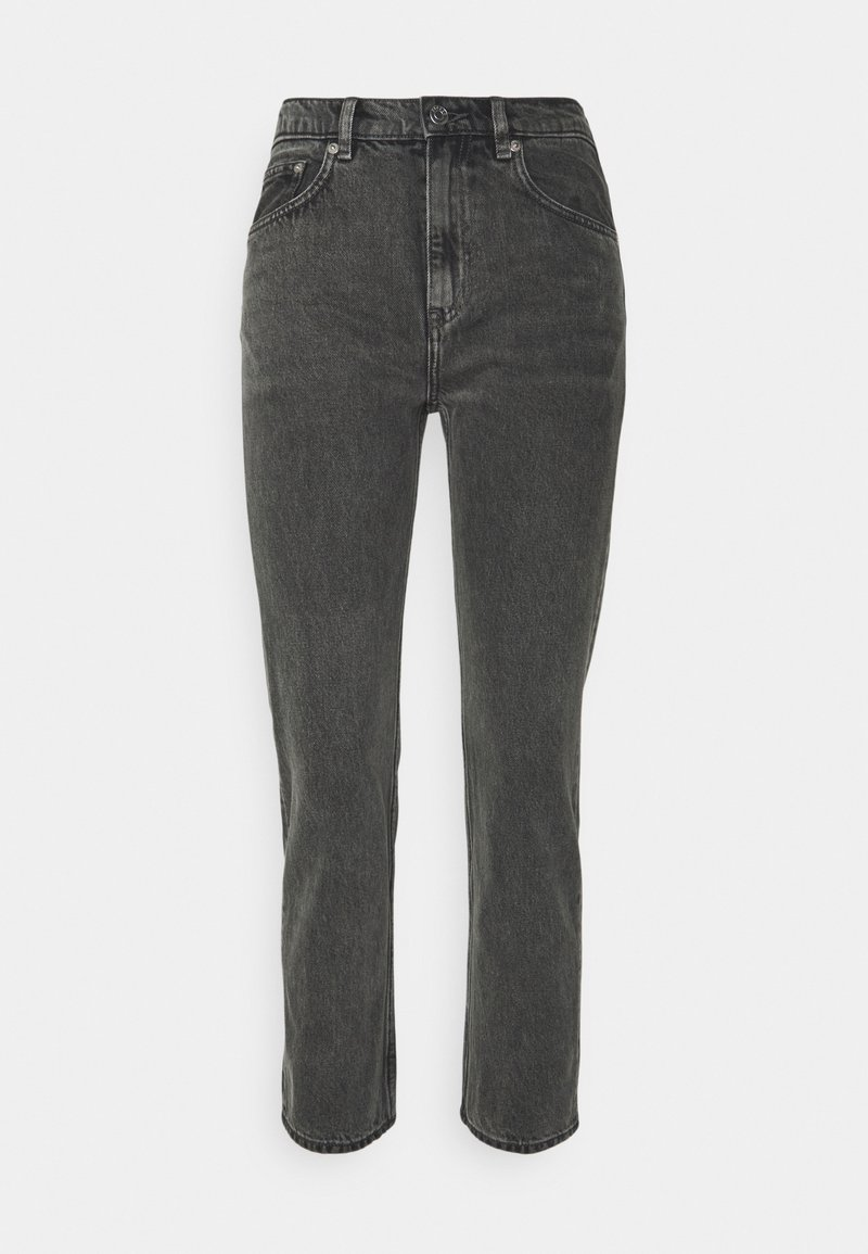 ARKET - CROPPED RIGID VINTAGE - Straight leg jeans - washed black