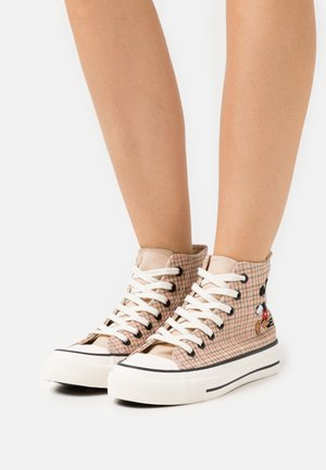 MICKEY BRITT RETRO  - High-top trainers - beige