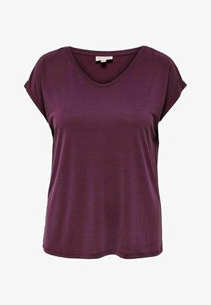 OBERTEIL CURVY V-AUSSCHNITT - T-shirts basic - winetasting