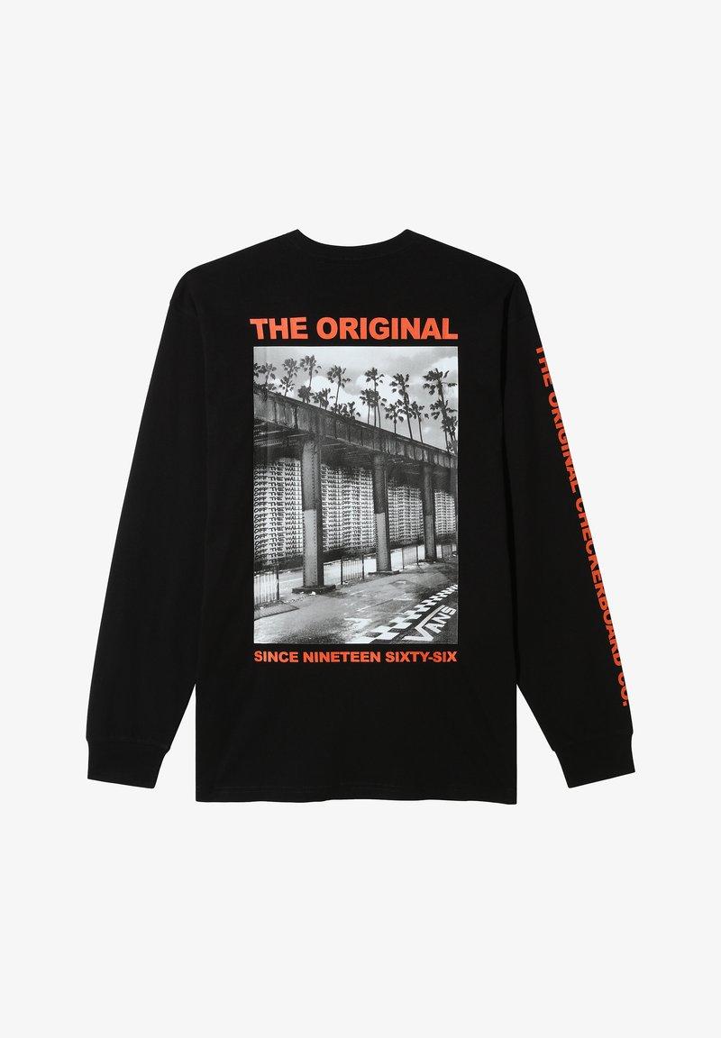 Vans - MN OTW TAGGED LS - Print T-shirt - black