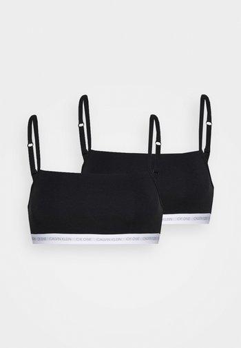 UNLINED BRALETTE 2 PACK - Top - black