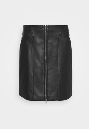 LAVIAS - Leather skirt - black