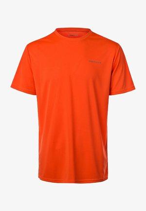 MIT REFLEKTIERENDEM PRINT - Basic T-shirt - orange