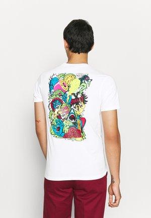 LOGO MASH UNISEX - T-shirt print - white
