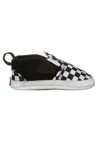 Vans - SLIP-ON V CRIB - First shoes - black/true white - 3