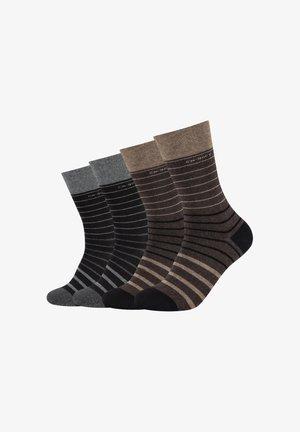 SOCKS UNISEX 4 PACK - Socks - dark brown melange