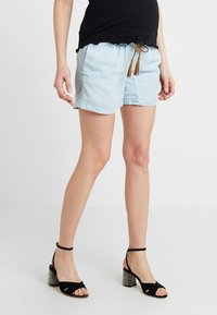 MAMALICIOUS - MLADORA - Shorts - light blue denim - 0