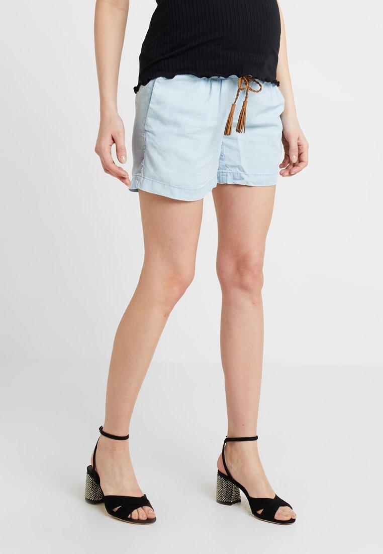 MAMALICIOUS - MLADORA - Shorts - light blue denim