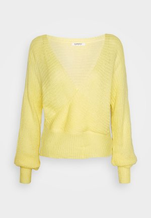V NECK JUMPER - Pullover - yellow