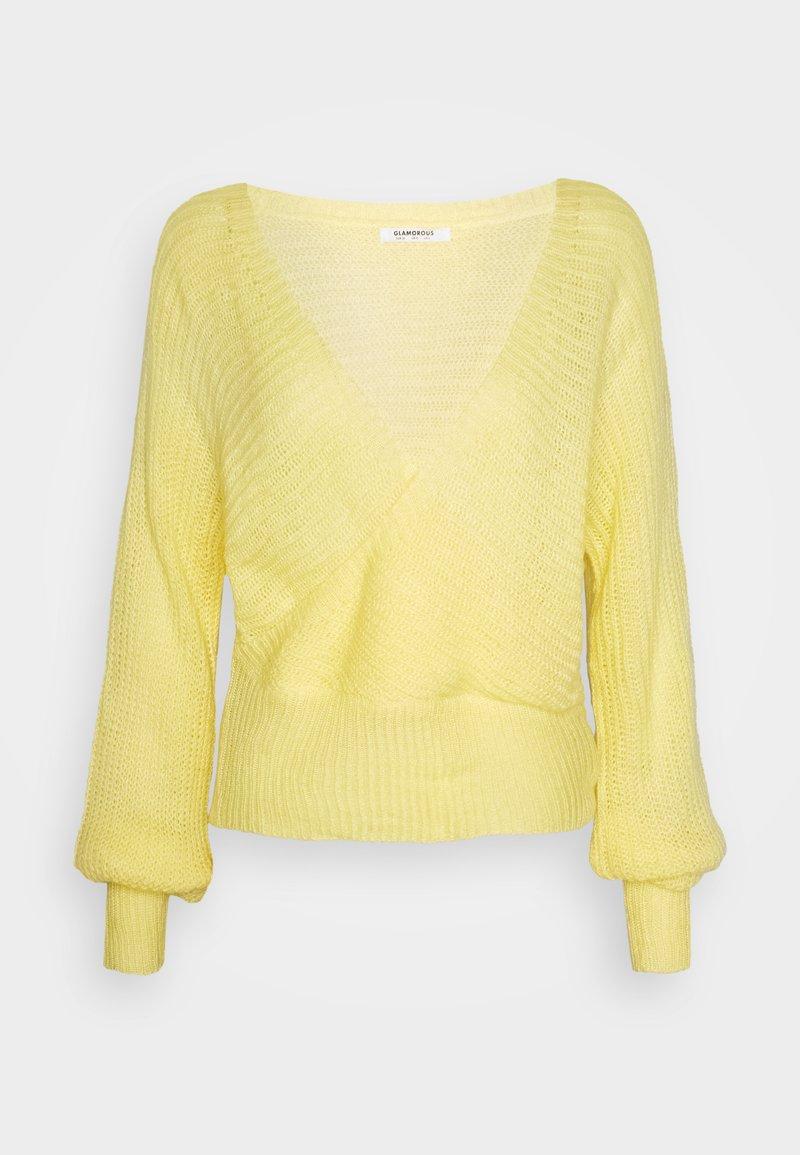 Glamorous - V NECK JUMPER - Jumper - yellow