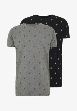 LOUNGE TEE 2 PACK - Print T-shirt - black/grey