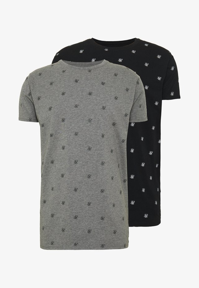 LOUNGE TEE 2 PACK - T-shirt con stampa - black/grey