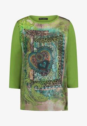 MET PRINT - Long sleeved top - green/brown