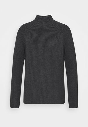 HILLOCK FUNNEL NECK - Strikkegenser - dark grey