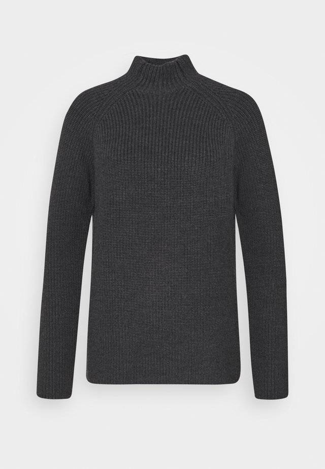 HILLOCK FUNNEL NECK - Strikpullover /Striktrøjer - dark grey