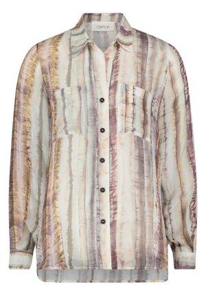 Button-down blouse - brown/beige