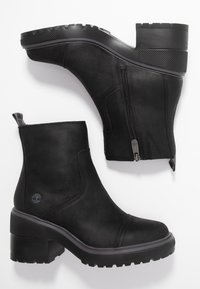 Timberland - BLOSSOM SIDE ZIP - Plateaustiefelette - black - 3