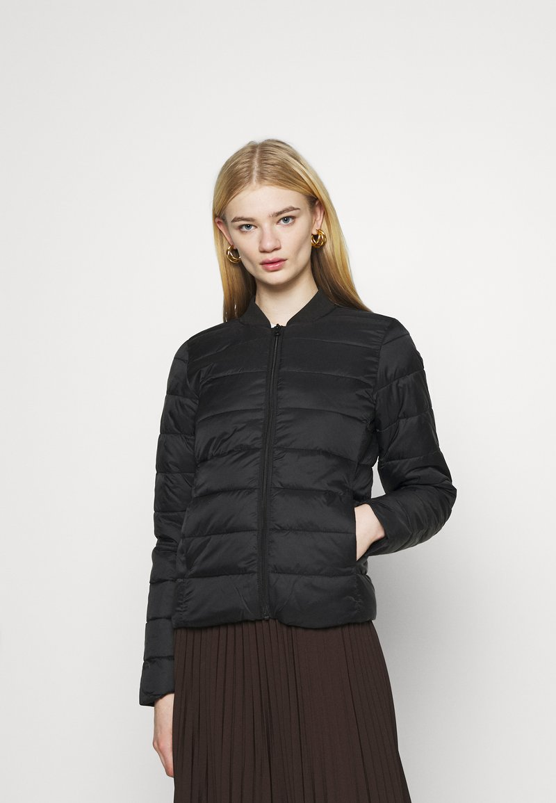ONLY - ONLSANDIE QUILTED JACKET - Light jacket - black