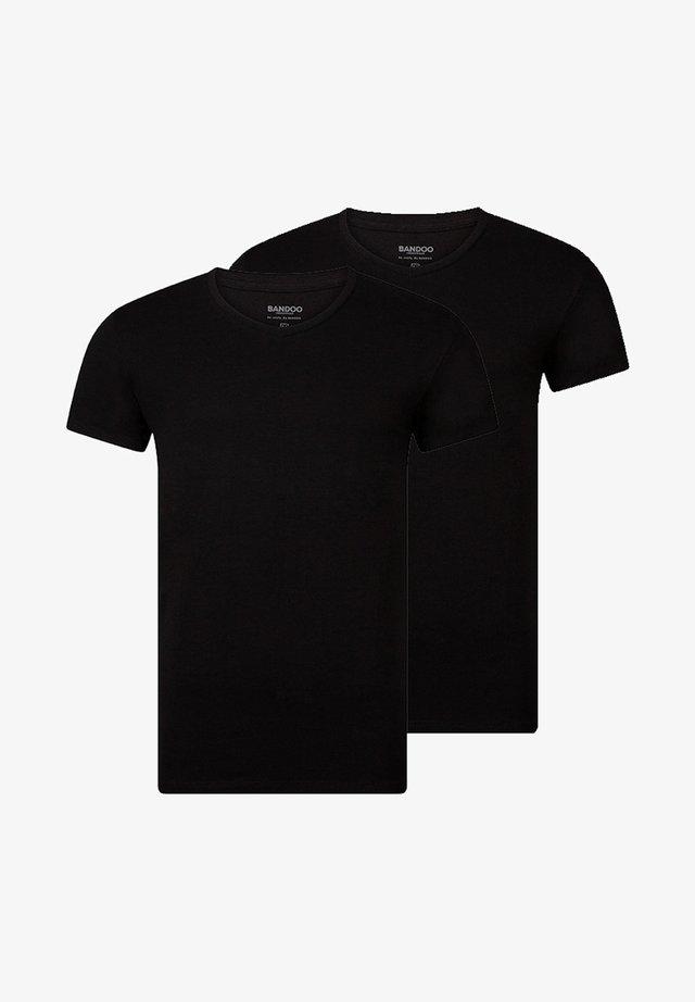 2PACK - Hemd - black,black