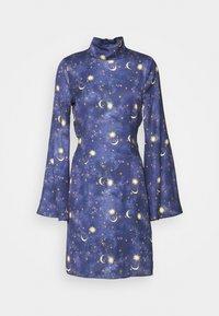 Never Fully Dressed Tall - HIGH NECK MINI MOON AND STARS DRESS - Robe d'été - navy/multi - 0