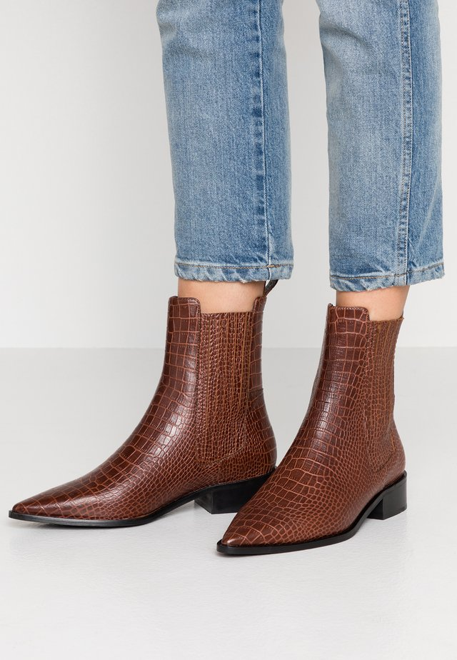 ALWA - Classic ankle boots - dark brown