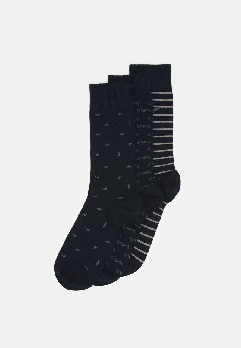 Emporio Armani - SHORT SOCKS 3 PACK - Socks - blu navy
