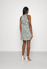 Vila - VIMILINA FLOWER DRESS - Cocktail dress / Party dress - ashley blue/white - 2