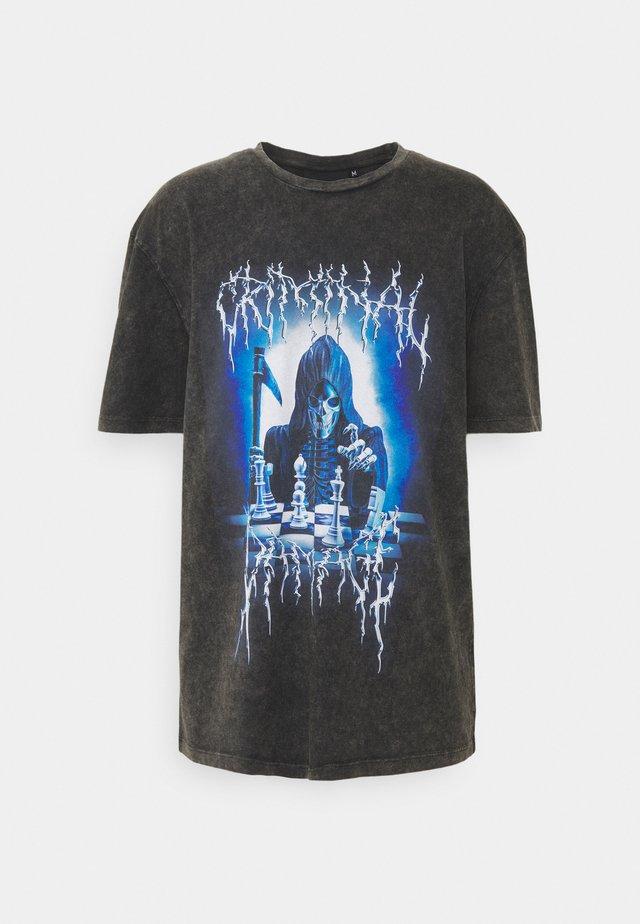 REEPER TEE - T-shirt imprimé - black