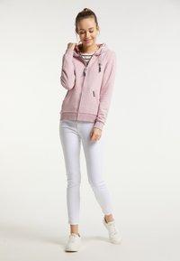 Schmuddelwedda - Zip-up sweatshirt - rosa melange - 1