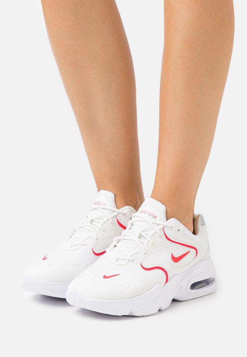 Nike Sportswear - AIR MAX 2X - Trainers - summit white/siren red/white