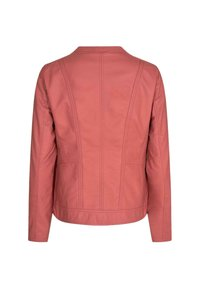 Soyaconcept - Faux leather jacket - coral - 1