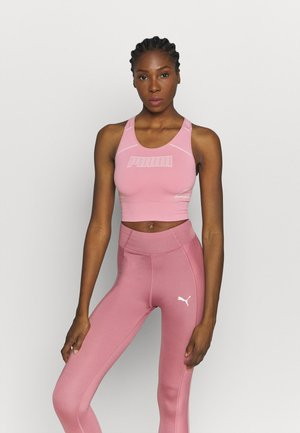 EVOSTRIPE EVOKNIT CROP - Medium support sports bra - foxglove