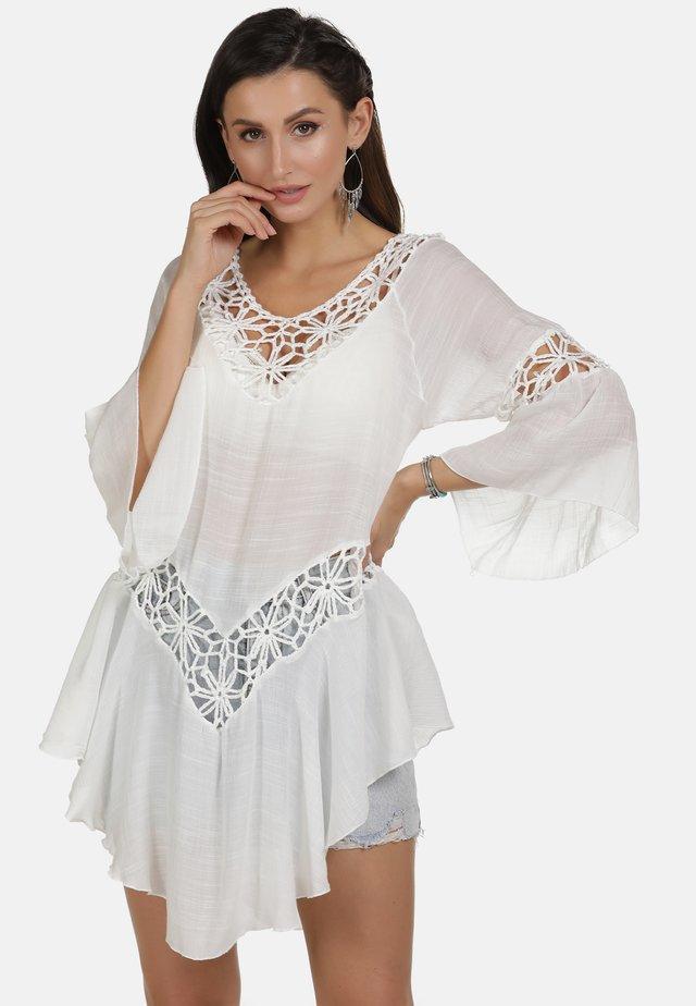 KLEID - Korte jurk - wollweiss