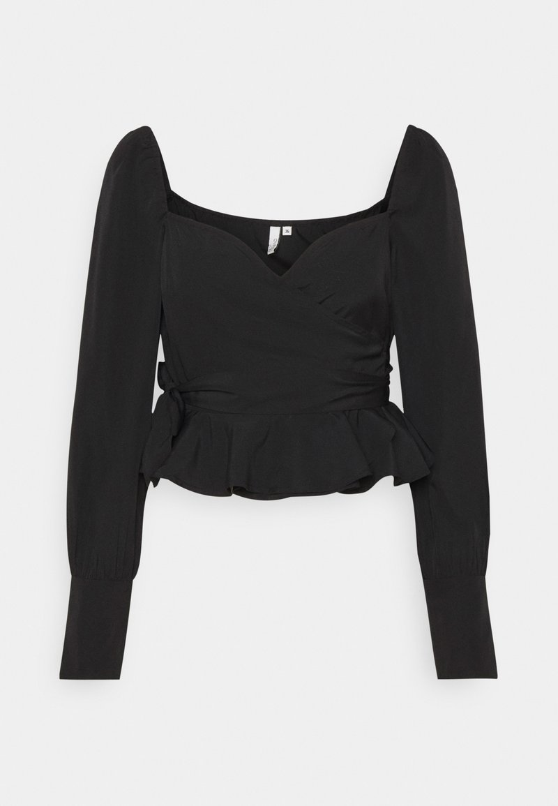 Nly by Nelly - WRAPPED AROUND LOVE BLOUSE - Blouse - black
