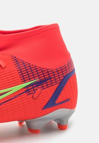 Nike Performance - MERCURIAL 8 ACADEMY FG/MG - Moulded stud football boots - bright crimson/metallic silver - 5